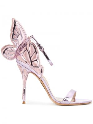 Босоножки Butterfly Sophia Webster. Цвет: металлический