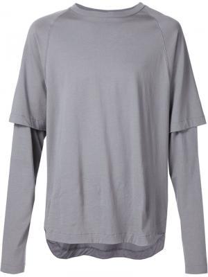 Рубашка с двойными рукавами Public School. Цвет: серый