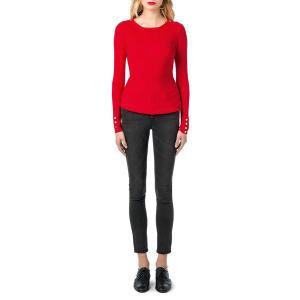 Пуловер с круглым вырезом из тонкого трикотажа BEST MOUNTAIN. Цвет: красный