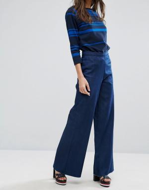 Waven Широкие джинсы Nella. Цвет: синий