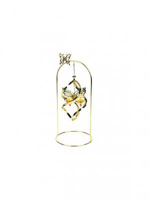 Декоративная композиция Бабочка CRYSTOCRAFT. Цвет: золотистый