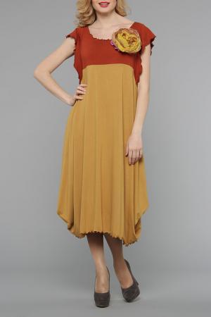 Платье Kata Binska. Цвет: терракотовый, горчичный