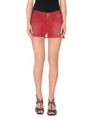 Джинсовые шорты CYCLE. Цвет: красный