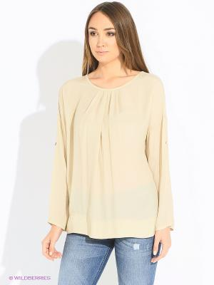 Блуза Rosa&Friends. Цвет: бежевый