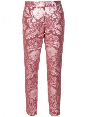 Жаккардовые брюки Christian Pellizzari. Цвет: розовый и фиолетовый