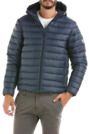 Куртка с капюшоном Hot Buttered. Цвет: синий