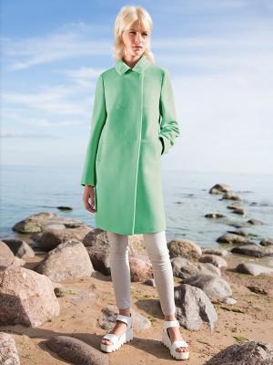 Пальто Pompa. Цвет: зеленый