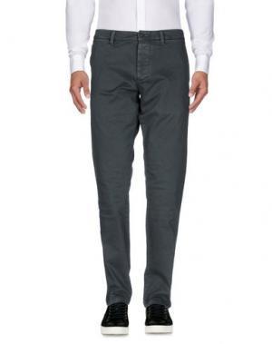 Повседневные брюки QU4TTRO. Цвет: свинцово-серый