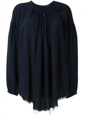 Блузка c V-образным вырезом Raquel Allegra. Цвет: синий