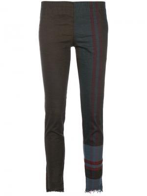 Укороченные брюки Philip Uma Wang. Цвет: зелёный