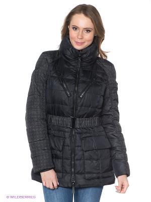Пальто Discovering. Цвет: черный, белый