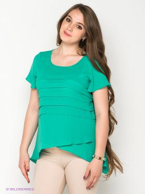 Блузка Gemko. Цвет: зеленый