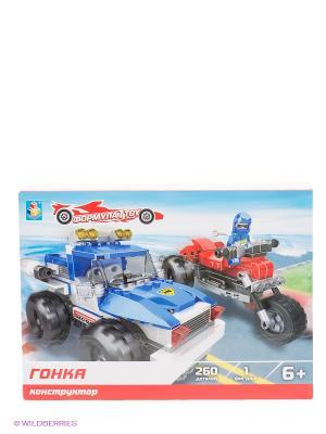 Конструктор Формула 1Toy - Гонка (260 деталей). Цвет: голубой, черный
