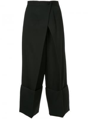 Укороченные широкие брюки Astraet. Цвет: чёрный