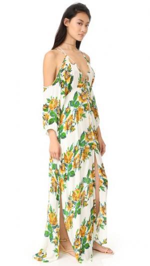 Макси-платье Monarch Free People. Цвет: желтый