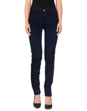 Повседневные брюки REBEL QUEEN. Цвет: темно-синий