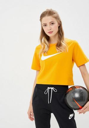 Футболка Nike. Цвет: желтый