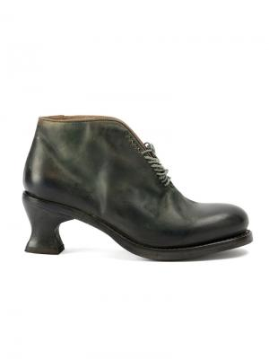 Туфли на шнуровке и каблуке Cherevichkiotvichki. Цвет: зелёный