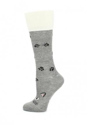 Носки oodji. Цвет: серый