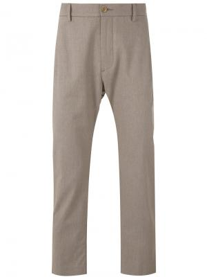 Укороченные брюки Pence. Цвет: телесный