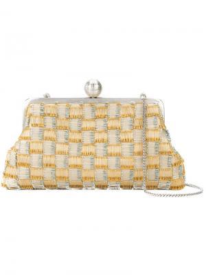 Клетчатый клатч Sarah's Bag. Цвет: жёлтый и оранжевый