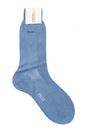Носки из хлопка 158742 Zilli. Цвет: синий