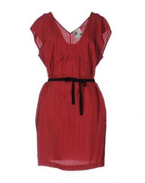 Короткое платье ATTIC AND BARN. Цвет: красно-коричневый