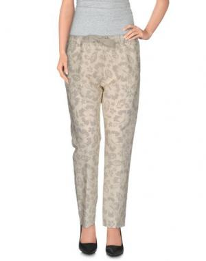 Повседневные брюки E_GO' SONIA DE NISCO. Цвет: слоновая кость
