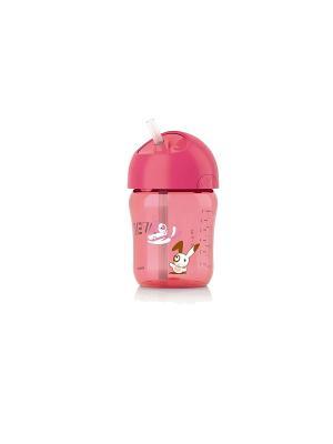 Чашка с трубочкой Philips Avent SCF760/00, 260мл, 12 мес.+. Цвет: розовый