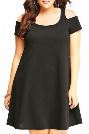 Платье Exline. Цвет: черный