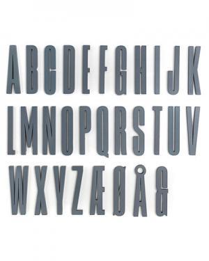 Игра Sebra Design Letters. Цвет: серый