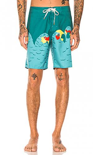 Плавательные шорты pete Ambsn. Цвет: бирюзовый