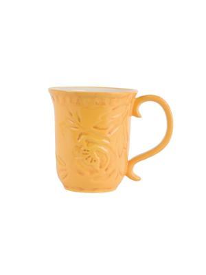 Кружка, Желтый Цветочный луг Elff Ceramics. Цвет: светло-коричневый