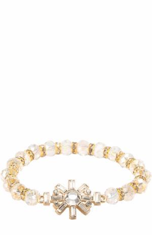 Браслет с бусинами и кристаллами Swarovski David Charles. Цвет: белый