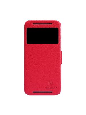 HTC One (M8) Nillkin Fresh Series Leather Case. Цвет: красный