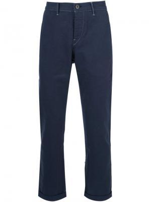Укороченные брюки M3 3X1. Цвет: синий