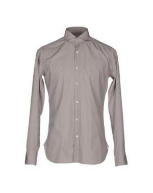 Pубашка GUGLIELMINOTTI. Цвет: голубиный серый