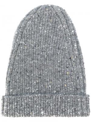 Шапка-бини в рубчик Marc Jacobs. Цвет: серый