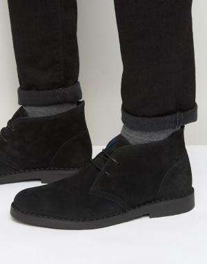 Dune Замшевые ботинки чукка Calabassas. Цвет: черный