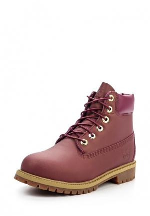 Ботинки Timberland. Цвет: бордовый
