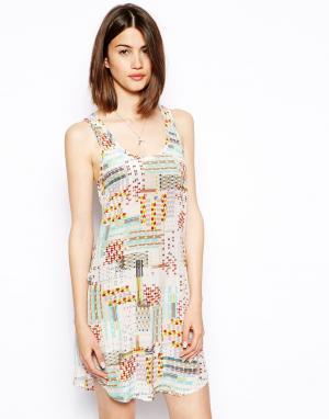 Шелковое платье-майка  Tracy S.Y.L.K. Цвет: геометрический принт