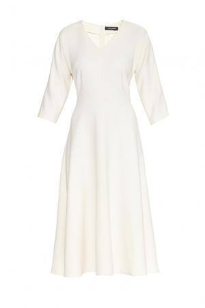 Платье из искусственного шелка и вискозы 182754 Cyrille Gassiline. Цвет: бежевый