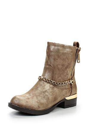 Полусапоги WS Shoes. Цвет: золотой