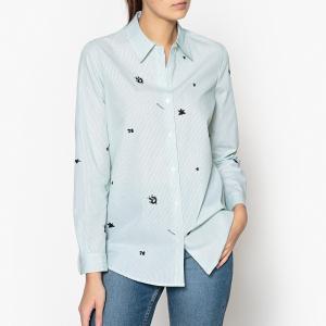 Рубашка с вышивкой MAISON SCOTCH. Цвет: зеленый,синий