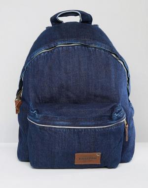 Eastpak Уплотненный джинсовый рюкзак темного цвета Pak R Kuroki. Цвет: синий