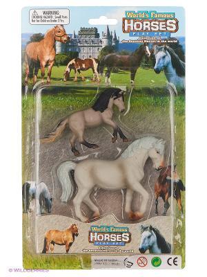 Набор фигурок Лошади Happy Kin. Цвет: серый