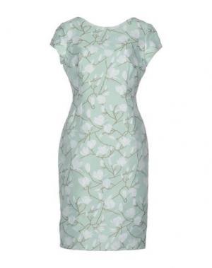 Платье до колена ALEXANDER TEREKHOV. Цвет: светло-зеленый