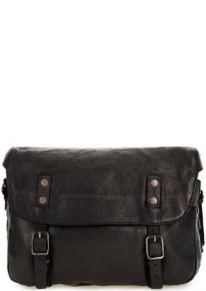 Кожаная сумка через плечо aunts & uncles. Цвет: черный