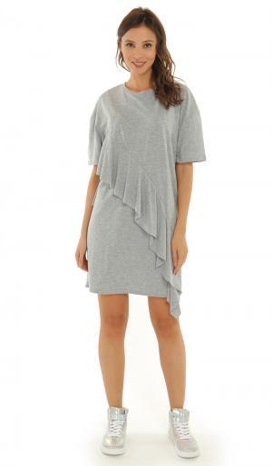 Платье Светло-Серое 42 ТВОЕ. Цвет: серый