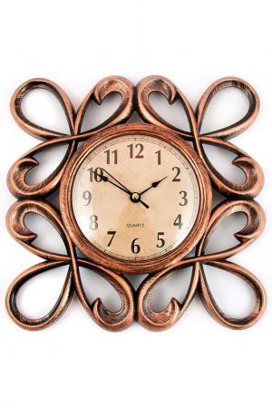 Часы настенные 25 см Русские подарки. Цвет: бронзовый, белый, коричневый